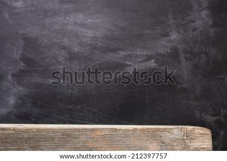 desk of wood and black space  - stock photo
