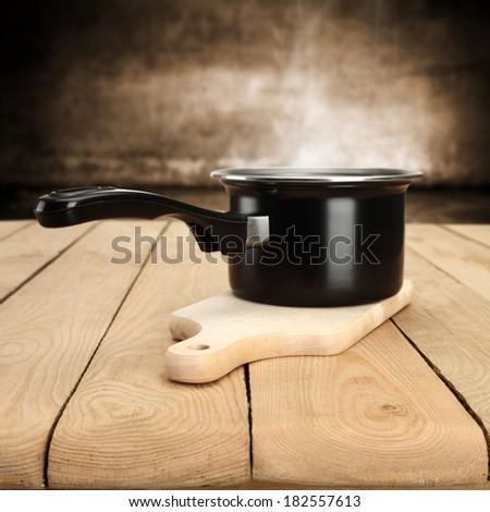 desk pot and kitchen  - stock photo