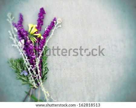 Desktop background flowers. - stock photo