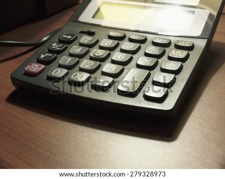Desktop calculator - stock photo