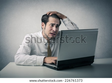 Desperate employee  - stock photo