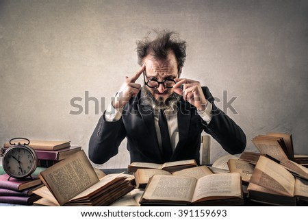 Desperate lawyer - stock photo