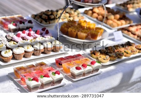 Dessert at a wedding or catering event - stock photo