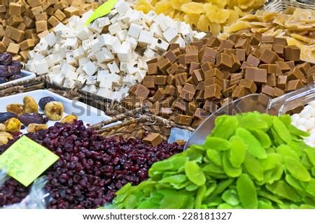 Dessert stall  - stock photo