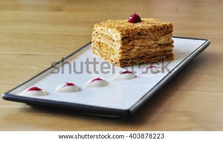 Dessert with cinnamon - stock photo