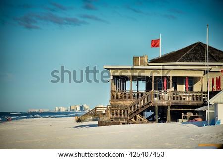 destin florida beach scenes - stock photo