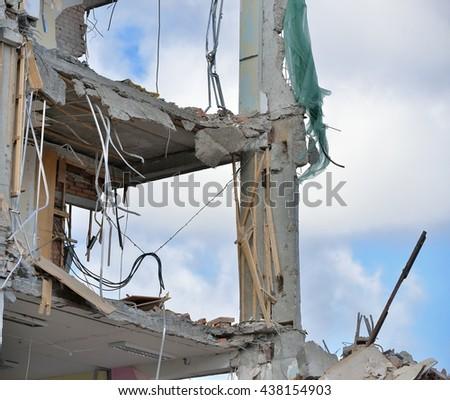 destroy - stock photo