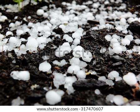 Destroying Hail - stock photo