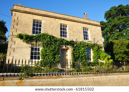 Detached Stone House - stock photo