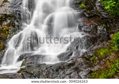 Detail Amicalola Falls, in Georgia's State Park. - stock photo