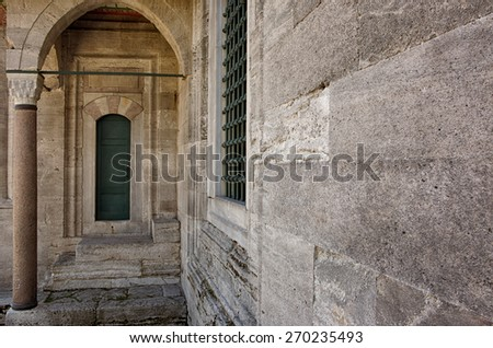 Detail from Suleymaniye ( Blue Mosque ) in Istanbul - stock photo