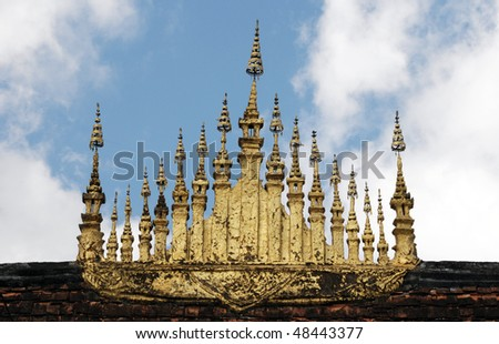 Detail from temple,Luang Prabang - stock photo