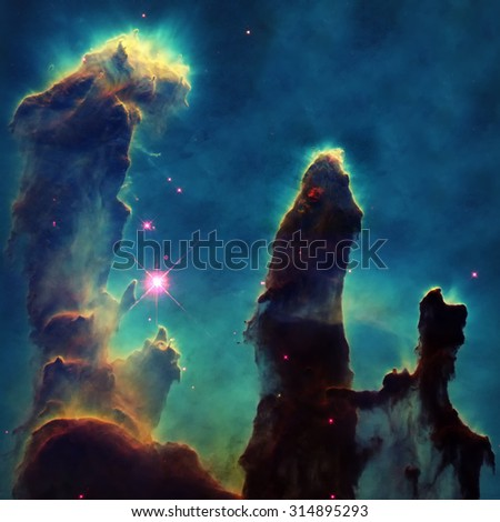 Detail from the M16 Eagle Nebula. Elements of this image furnished by NASA - stock photo