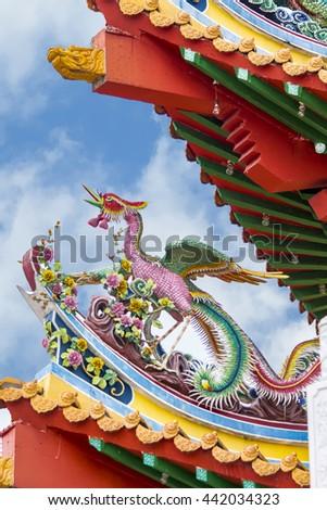 Detail from Thean Hou Temple in Kuala Lumpur, Malaysia - stock photo