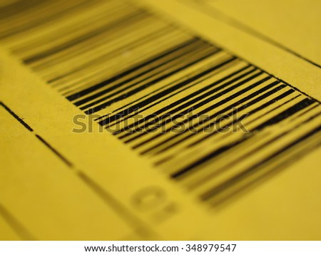 Detail of a bar code label for product identification - stock photo