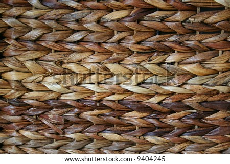 Detail of a basket weave. - stock photo