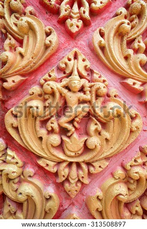 Detail of a Buddhist Temple in Oudong, Cambodia - stock photo