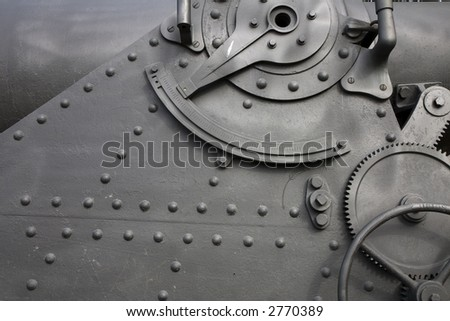 Detail of a cannon in Montjuic Castle, Barcelona, Catalonia, Spain - stock photo