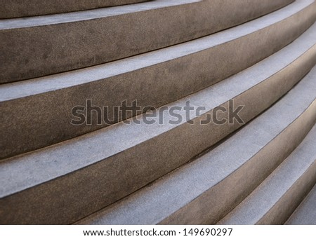 Detail of a Chinese style stone staircase forming a pattern - stock photo