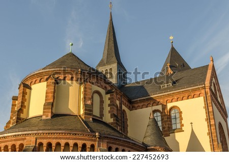 Detail of a church - stock photo