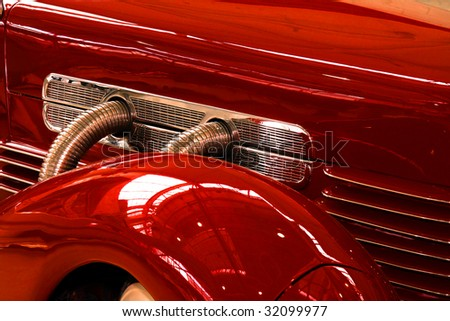 Detail of a classic 1930's car. - stock photo