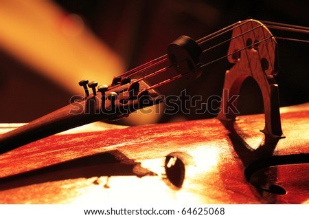 Detail of a classical cello - stock photo