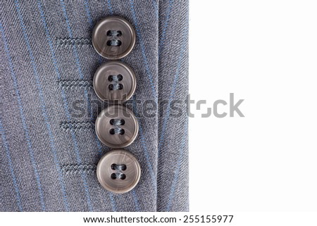 Detail of a gray man suit - stock photo