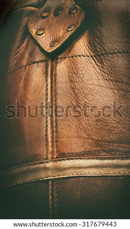 detail of a leather texture. - stock photo