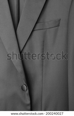 Detail of a man's suit or tux or tuxedo - stock photo