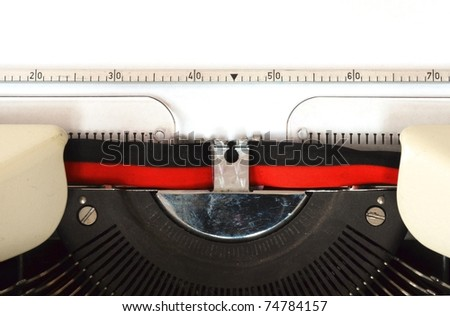 detail of a mechanical typewriter - stock photo