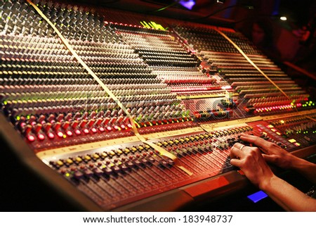 Detail of a mixer. - stock photo