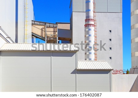 Detail of a modern factory. - stock photo