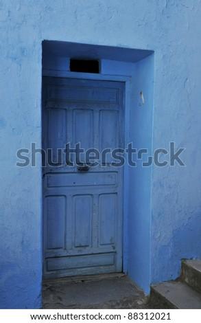 detail of a morocco door - stock photo