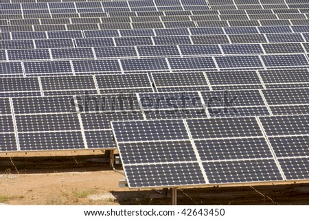 detail of a photovoltaic panels - stock photo