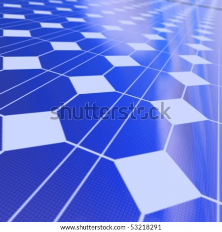 Detail of a solar panel - stock photo