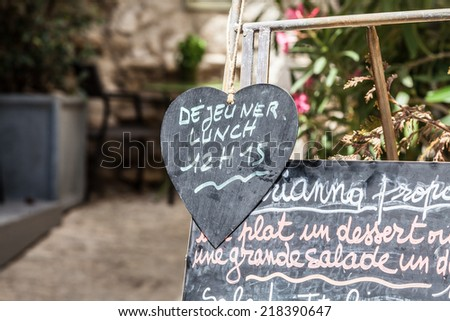 Detail of a tipical French men���¹ in Provence - France - stock photo