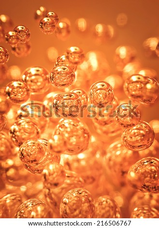 Detail of abstract orange bubble, can be used for background - stock photo