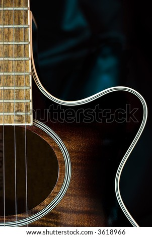 Detail of acoustic guitar - stock photo