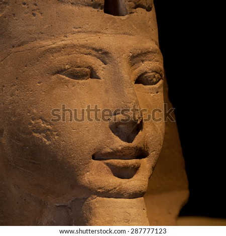 Detail of an Egyptian Sphinx - Ramesside Period - stock photo