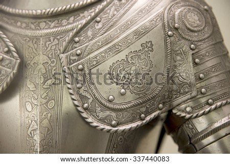 Detail of an european medieval armor - stock photo