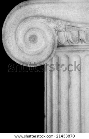 Detail of an Ionic column - stock photo