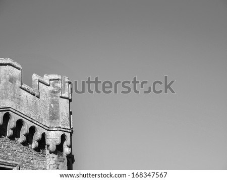 Detail of an old castle fortress - stock photo