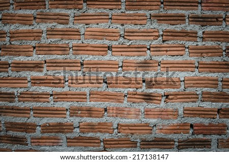 detail of brick wall texture - stock photo