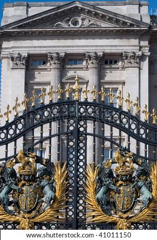 Detail of Buckingham palace London England UK - stock photo