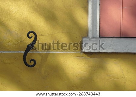 Detail of building in the french quarter of New Orleans, Louisiana. - stock photo
