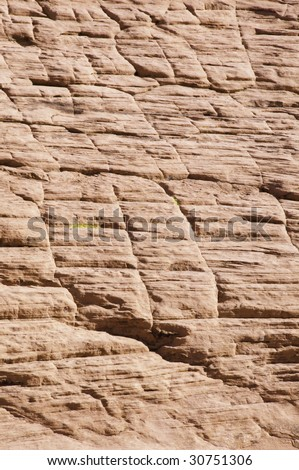 Detail of Calico Hills in the Red Rock Canyon National Conservation Area near Las Vegas, Nevada - stock photo