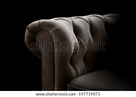 detail of classic upholstered furniture - stock photo