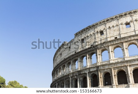 Detail of Colosseum in Rome, Italy  - stock photo
