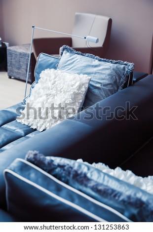 detail of cozy sofa - stock photo