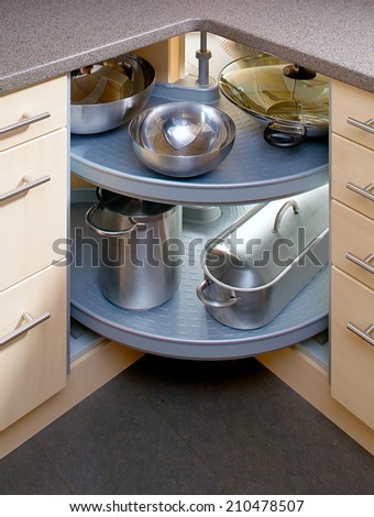 Detail of cupboard in the corner - stock photo
